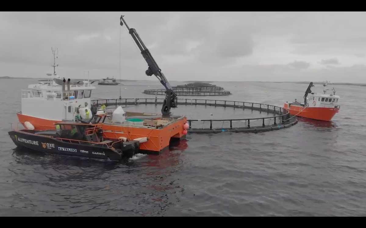 OXE舷外机应用于海上测量设备